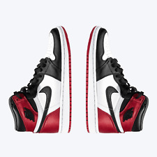 Nike Air Jordan 1 Retro High OG Satin Black Toe UK 9.5 US 10.5/12W EU 44.5 BNIB