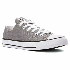 Converse Women's Chuck Taylor All Star Silver Low Top Sneaker Size ...