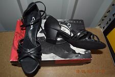 Black Capezio sandal ballroom latin dance shoes - size UK 3.5