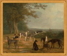Nine Greyhounds in a Landscape Jacques-Laurent Agasse Windhunde Tiere B A1 02347