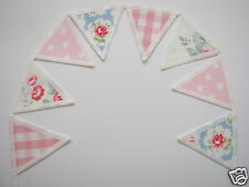 CATH KIDSTON FABRIC MINI BUNTING SHELF TRIM: Trailing Floral Star Provence Rose!