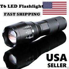 New T6 Tactical Military LED Flashlight Torch 50000LM Zoomable 5-Mode for 18650