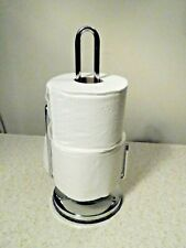 Chrome Free Standing Toilet Paper Holder / Stand