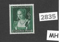 #2835   Very nice MH stamp Third Reich  Germany 1939 Adolph Hitler Culture fund