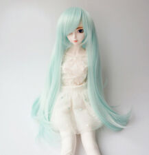 "8""~9"" BJD SD Doll Hair Full Wig 1/3 BJD DZ DOD LUTS Long Straight Green Wig"