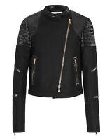 Dorothee Schumacher Womens Unexpected Match Jacket Medium (3) Black