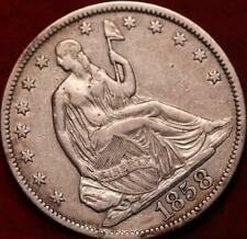 1858-O New Orleans Mint Silver Seated Half Dollar