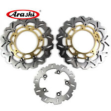 Front & Rear Brake Disc Rotors Set For Yamaha YZF R6 2005-2015 YZF R1 2007-2011