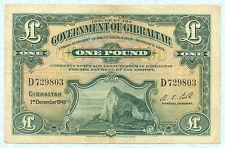 GIBRALTAR 1 Pound 1949 P15b VF
