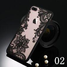 For Apple iPhone X 6s 8 Plus SE Case Mandala Pattern Clear TPU Bumper Hard Cover