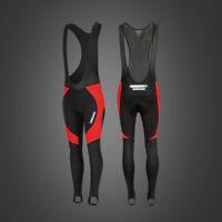 Men's Cycling Bib Tights Winter Thermal Padded Pants Leggings MTB Bike Trousers