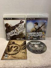Sniper Elite V2 (Used) & 3 III (New Sealed) PlayStation 3 PS3 Game Lot Set M