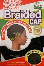MODEL MODEL BRAIDED CAP FOR CROCHET BRAID AND WEAVES FULL BANG PATTERN !! NEW!!
