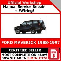 # FACTORY WORKSHOP SERVICE REPAIR MANUAL FORD MAVERICK 1988-1997 +WIRING