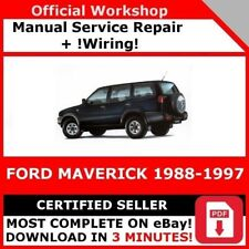 factory workshop service repair manual ford maverick 1988-1997 +wiring