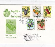 San Marino 1973 Fruits FDC Unadressed VGC