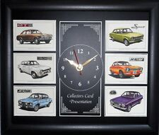 Ford Escort MKI The Performers Stunning Collector Cards Clock