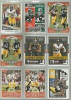 Pittsburgh Steelers 9 card 2017 Classics insert & parallel lot-all different