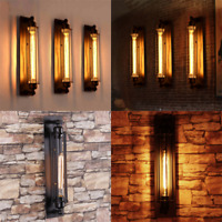 Modern Corridor Retro Industrial Ceiling Wall Sconces Tube Light Lamp Vintage UK