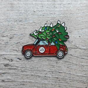 Christmas Tree Red Car Enamel Pin Badge Brooch Bag Accessories Craft Hobby Gift