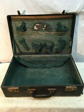 Vtg 1930s Wood Suit Case Traveling sales man Doll clothing Vanity Table