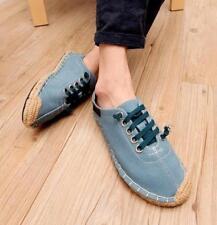 Causal Men Linen Canvas Loafer Slip On Shoes Comfy Breathable Espadrilles Shoes
