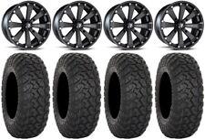 "MSA Black Kore 14"" UTV Wheels 30"" RT320 Tires Honda Pioneer 1000 / Talon"