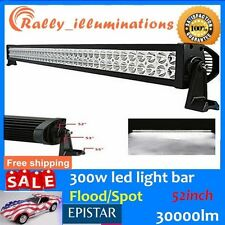"52""300W FLOOD/SPOT COMBO LED Work Light Bar Offroad Driving Lamp SUV Car Boat RY"