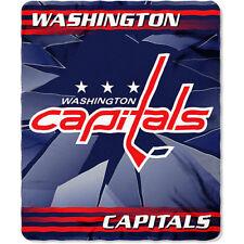 WASHINGTON CAPITALS BLANKET FLEECE THROW SOFT BROKEN ICE SERIES NHL NEW NWT 50796ce3c