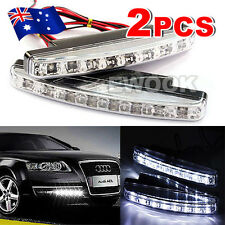 2x Universal DRL LED Daytime Running Lights Car Fog Driving Waterproof Lamp 12v