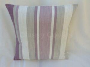 "Laura Ashley Designer Cushion Cover ""AWNING STRIPE"" Amethyst Various Sizes"