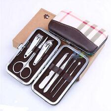 New 7Pcs Nail Care Pedicure Set Personal Manicure Travel Grooming Kit Men Women