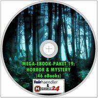 ☝ Mega-Ebook-Paket 19 HORROR & MYSTERY 46 eBooks Geschichten Deutsch ePUB PDF CD
