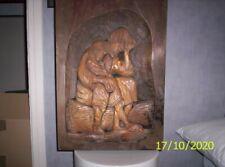 Tableau ancien en bois sculpté