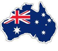 Sticker decal vinyl car australian australia map flag