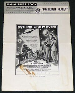FORBIDDEN PLANET 1954 ORIGINAL MOVIE PRESS BOOK COVER FRONT PAGE ROBBY THE ROBOT