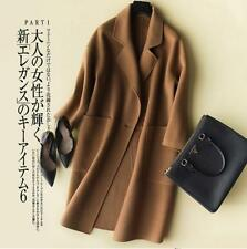 Hot Womens Spring London 100% Double cashmere ultralight Coats  Jackets Outwears