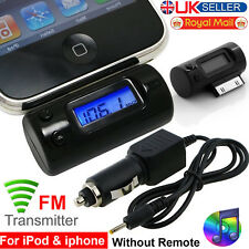 Car Wireless FM Radio Transmitter Modulator for iPhone 3GS 4S  4 iPod Touch UK