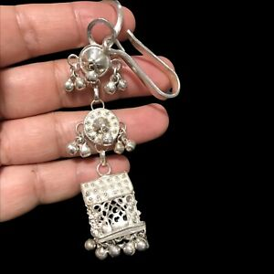 sterling silver mexican hat with Jingles  key chain 25.5 Grams