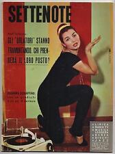 SETTENOTE N.7 1959 miranda martino sinatra mina elsa martinelli gerry mulligan