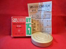 Bobine ORWO Chrom UT15 Umkehr-Tageslicht-Film 16mm. 30,5m. Neu. Ohne Garantie
