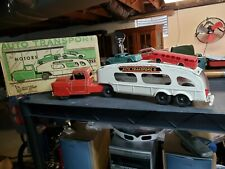 Vintage Marx Pressed Steel Toy Truck Auto Transporter Tin Toy Lot