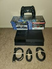 Sony playstation 4 500gb console black cuh 1001-a with 15 PS4 Games God Of War,