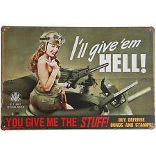 U.S. Army Bonds Retro Decor Metal Gas Oil Tank Tin Sign Man Cave Garage Basement