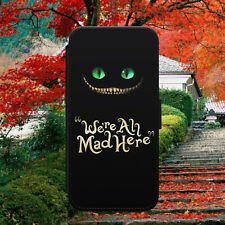 ALICE IN WONDERLAND/CHESHIRE CAT/FLIP WALLET PHONE CASE COVER FOR IPHONE/SAMSUNG