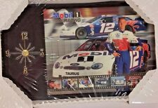 "NASCAR, 9 1/2"" x 16""  Clock, #12 Jeremy Mayfield, New"