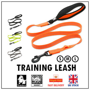 Leash Lead Dog Training Truelove Strong Durable Soft Handle Reflective S M L