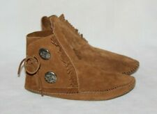 Minnetonka Moccasins 632 Womens Soft Leather Sole Ankle Boot Brown Shoes Size 7