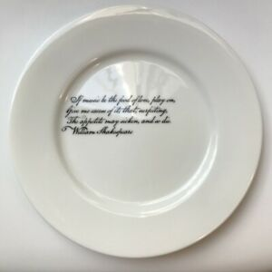 PARLANE Poetry Collection Shakespeare Quote 'Music Be the Food of Love' Plate