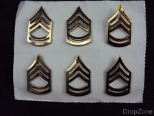 3 Pairs of US Military Insignia Metal Platoon Sergeant or Sergeant First Class